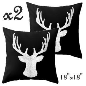 Set- 2 Silhouette Christmas Pillow Cover